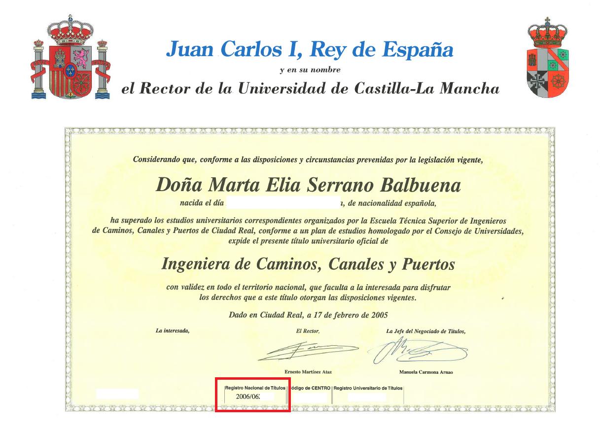Disponible la web para obtener la certificación del título ...